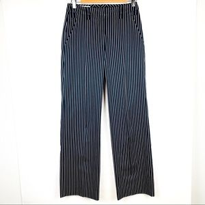 Escada Black White Striped Pants